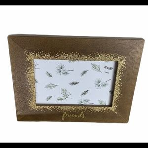 Friends gold glitter picture frame 4X6 (New)